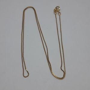 Solid 10 K Yellow Gold Box Chain